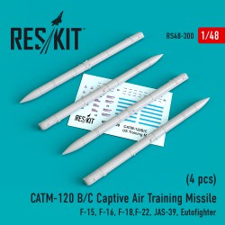 CATM-120 B/C Captive Air Training Missile  (4 штуки)  (1/48)