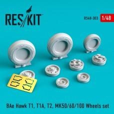 BAe Hawk T1, T1A, T2, MK50/60/100 смоляные колеса (1/48)