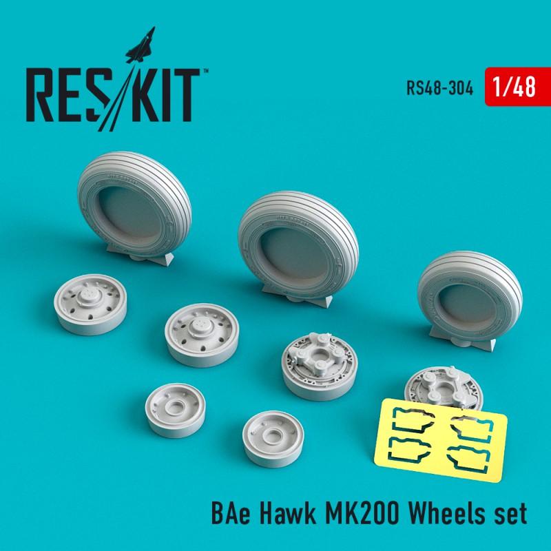 BAe Hawk MK200 смоляные колеса (1/48)