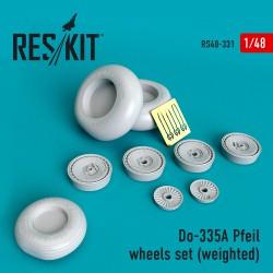 Do-335А Pfeil wheels set (weighted) (1/48)
