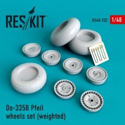 Do-335В Pfeil wheels set (weighted) (1/48)