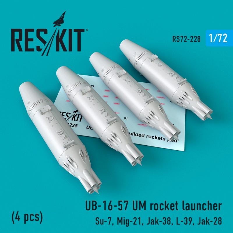 UB-16-57 UM rocket launcher  (4 pcs) (1/72)