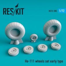 He-111 early type смоляные колеса  (1/72)
