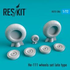 He-111 late type смоляные колеса  (1/72)