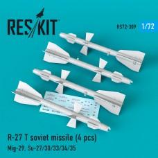 R-27 (T) авиационная ракета (4 штуки) (1/72)
