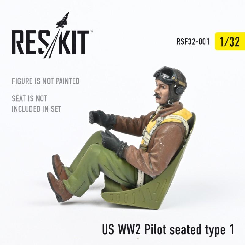 US WW2 Pilot seated type 1 (1/32)