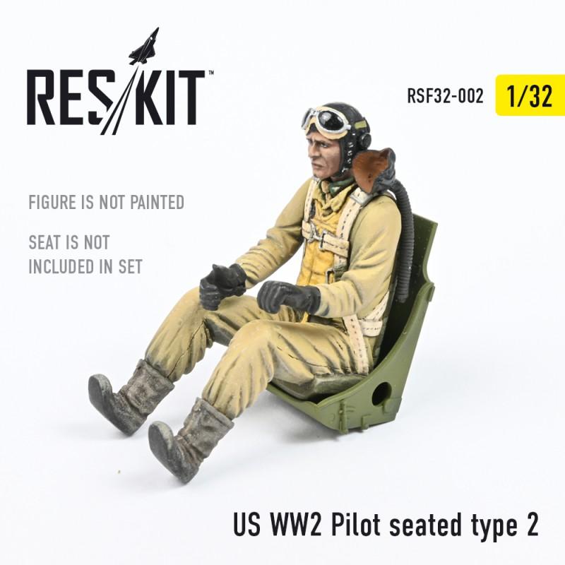 US WW2 Pilot seated type 2 (1/32)