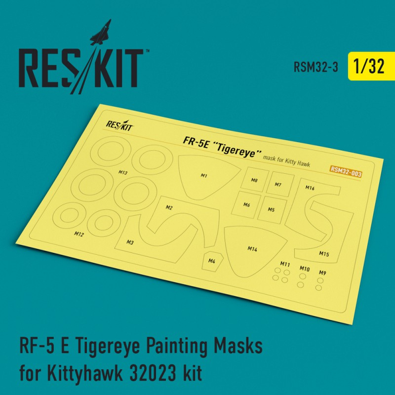 RF-5 E Tigereye Painting Masks for Kittyhawk 32023 kit (1/32)