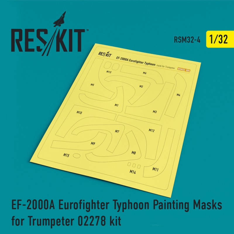 EF-2000A Eurofighter Typhoon Painting Masks for Trumpeter 02278 kit (1/32)