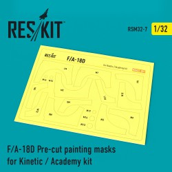 F/A-18D Pre-cut painting masks for Kinetic / Academy kit (1/32)