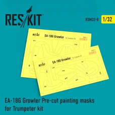 EA-18G Growler Pre-cut painting masks for Trumpeter kit (1/32)