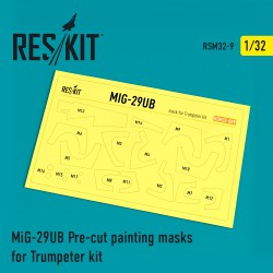 MiG-29UB Pre-cut painting masks for Trumpeter kit (1/32)