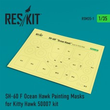 SH-60 F Ocean Hawk Painting Masks for Kitty Hawk 50007 kit (1/35)