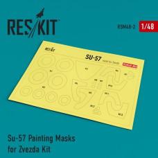 Su-57 Painting Masks for Zvezda Kit (1/48)