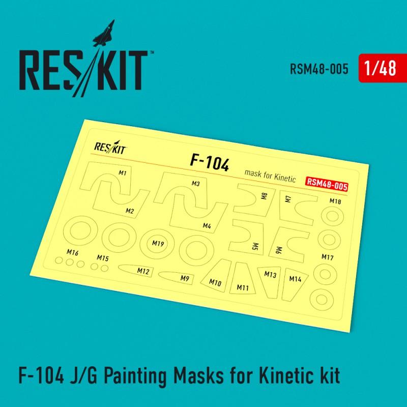F-104 J/G Painting Masks for Kinetic kit (1/48)