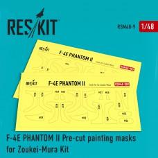 F-4 (E) Phantom II Pre-cut painting masks for Zoukei-Mura kit (1/48)