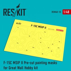 F-15 MSIP ll Pre-cut painting masks for Great Wall Hobby (L4817) kit (1/48)