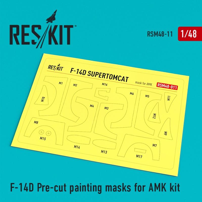 F-14D Pre-cut painting masks for AMK Kit (1/48)