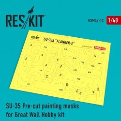 Su-35 Pre-cut painting masks for Great Wall Hobby kit (1/48)