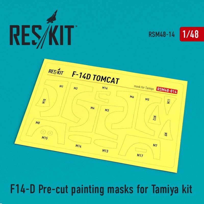 F-14D Pre-cut painting masks for Tamiya Kit (1/48)