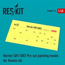 Harrier GR1/GR3 Pre-cut painting masks for Kinetic kit (1/48)