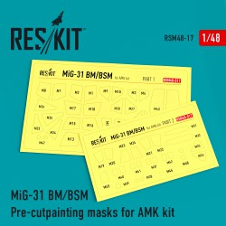 MiG-31 Pre-cut painting masks for Amk kit (1/48)