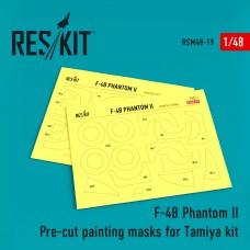 F-4B Phantom II Pre-cut painting masks for Tamiya kit (61121) (1/48)