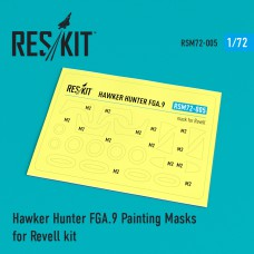 Hawker Hunter FGA.9 Painting Masks for Revell kit (1/72)