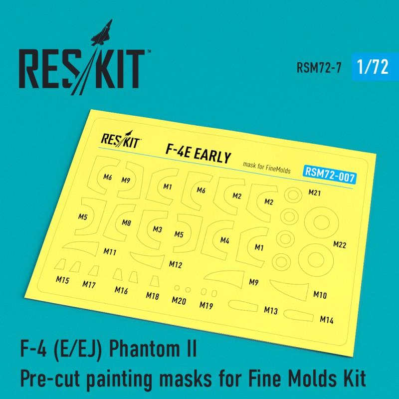F-4 (E/EJ) Phantom II Pre-cut painting masks for Fine Molds Kit  (1/72)