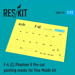 F-4 (C) Phantom II Pre-cut painting masks for Fine Molds kit  (1/72)