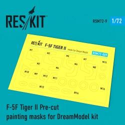F-5F Tiger II Pre-cut painting masks for DreamModel kit (1/72)