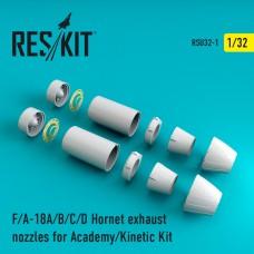 F-18 Hornet сопла для Academy/Kinetic Kit  (1/32)