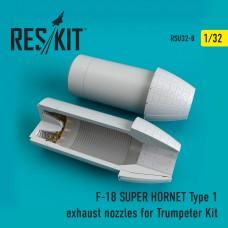 F-18 (E/G) SUPER HORNET Type 1 exhaust nozzles for Trumpeter Kit (1/32)