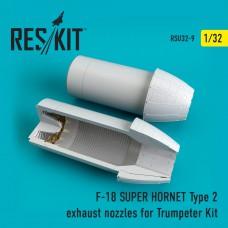F-18 (E/G) SUPER HORNET Type 2 exhaust nozzles for Trumpeter Kit (1/32)