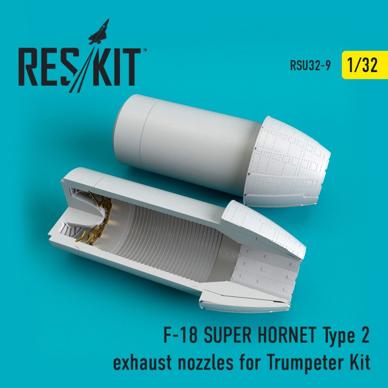 F-18 (E/G) SUPER HORNET Type 2 exhaust nozzles for Trumpeter Kit (1/32)