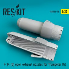 F-14 (D) open exhaust nozzles for Trumpeter Kit (1/32)