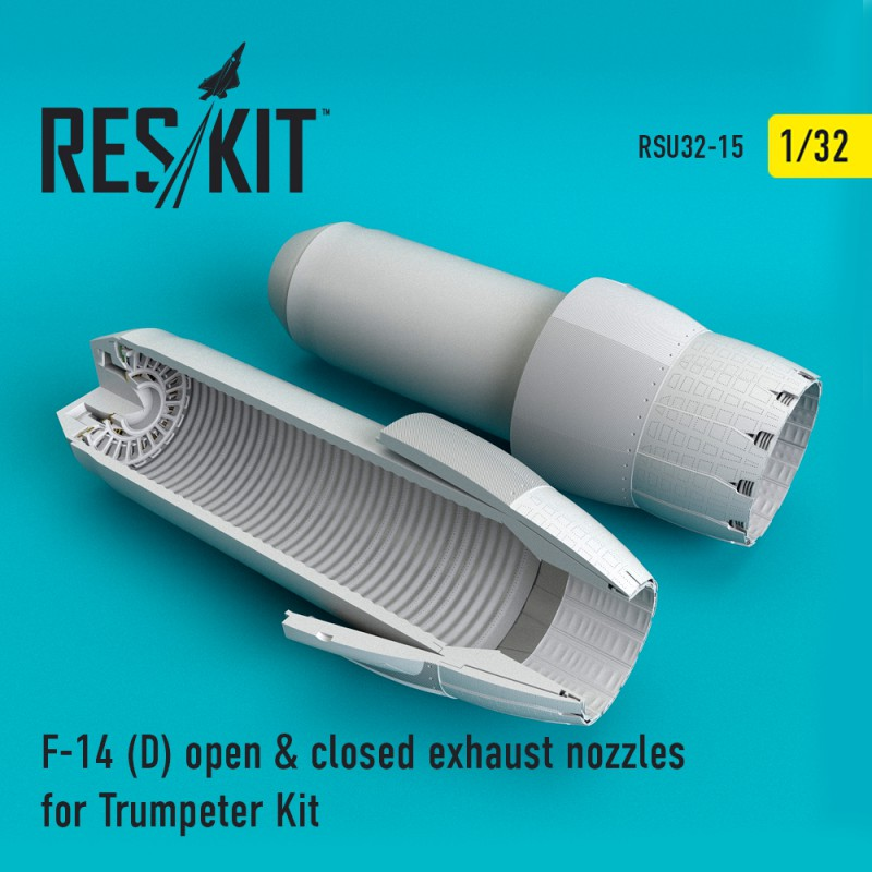 F-14 (D) open & closed exhaust nozzles for Trumpeter Kit (1/32)