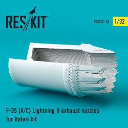 F-35 (A/С) Lightning II exhaust nozzles for Italeri Kit (1/32)