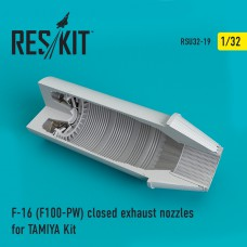 F-16 (F100-PW) closed exhaust nozzles for TAMIYA Kit (1/32)