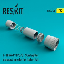 F-104 Starfighter (A/C/D/J/G) exhaust nozzle for Italeri Kit (1/32)