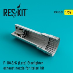 F-104 Starfighter (S/G Late) exhaust nozzle for Italeri Kit (1/32)