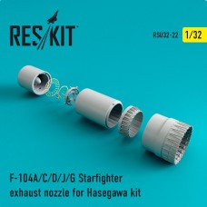 F-104 Starfighter (A/C/D/J/G) exhaust nozzle for Hasegawa Kit (1/32)