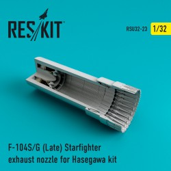 F-104 Starfighter (S/G Late) exhaust nozzle for Hasegawa Kit (1/32)