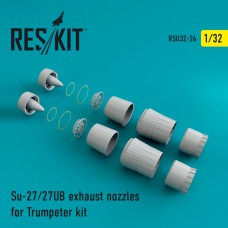 Su-27/27UB exhaust nozzles for Trumpeter Kit (1/32)