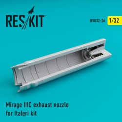 Mirage IIIC exhaust nozzle for Italeri Kit (1/32)