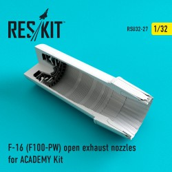 F-16 (F100-PW) open exhaust nozzles for ACADEMY Kit (1/32)