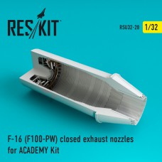 F-16 (F100-PW) closed exhaust nozzles for ACADEMY Kit (1/32)