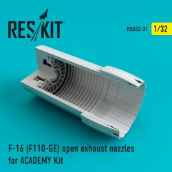F-16 (F110-GE) open exhaust nozzles for ACADEMY Kit (1/32)