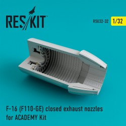 F-16 (F110-GE) closed exhaust nozzles for  ACADEMY Kit (1/32)