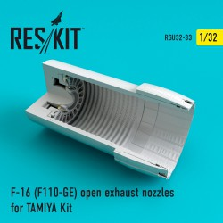 F-16 (F110-GE) open exhaust nozzles for TAMIYA Kit (1/32)